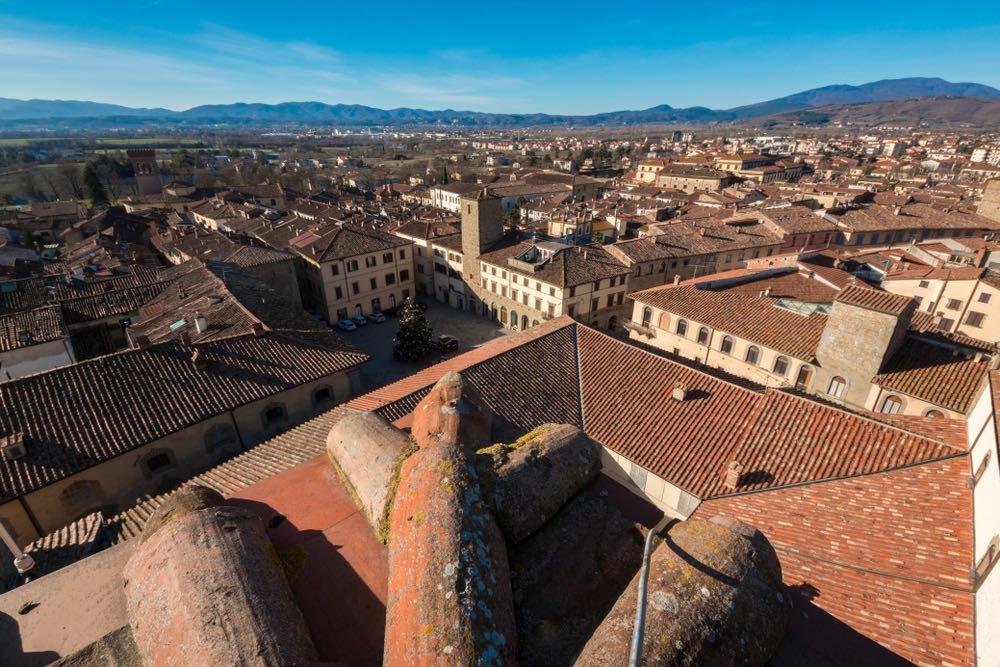 Il borgo toscano di Sansepolcro visto dall'alto