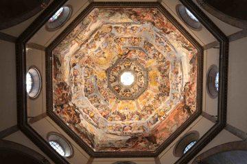 Interno della cupola del Duomo di Firenze, dipinta da Giorgio Vasari