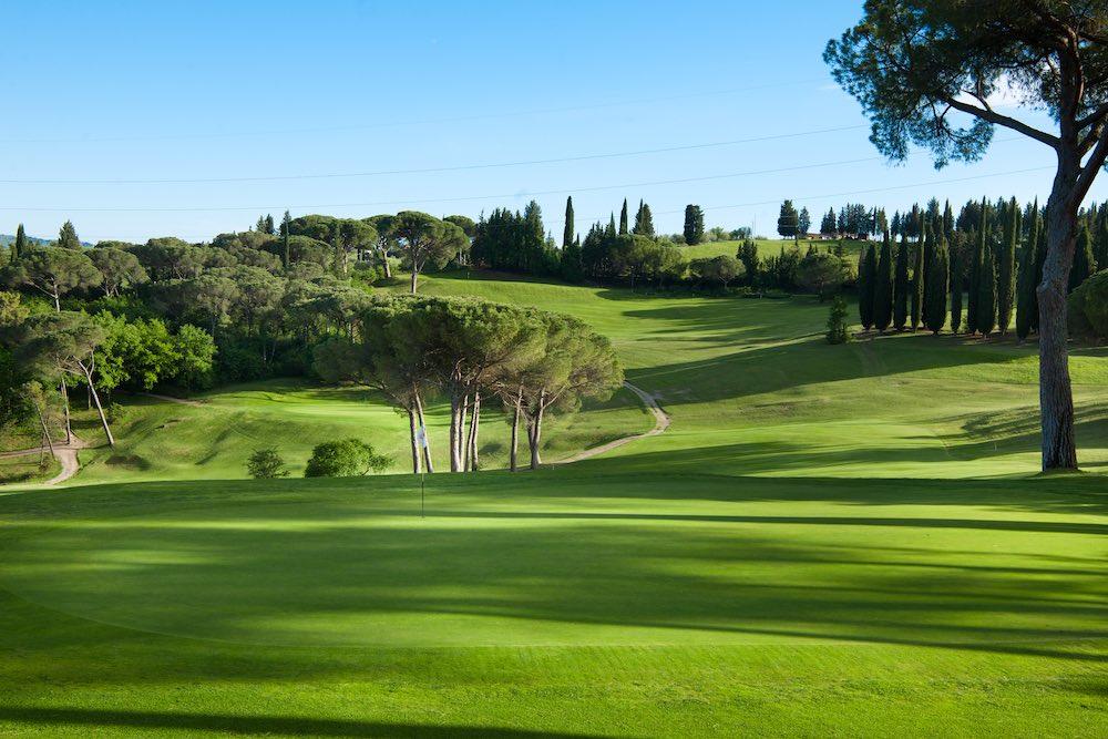 Campo del Golf Club Ugolino sulle colline fiorentine