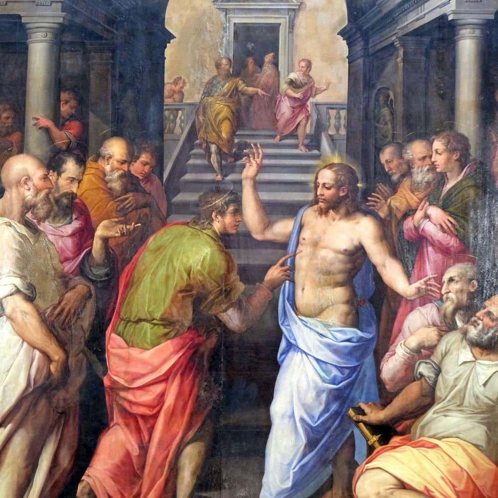 L'Incredulità di San Tommaso di Giorgio Vasari nella Basilica di Santa Croce a Firenze