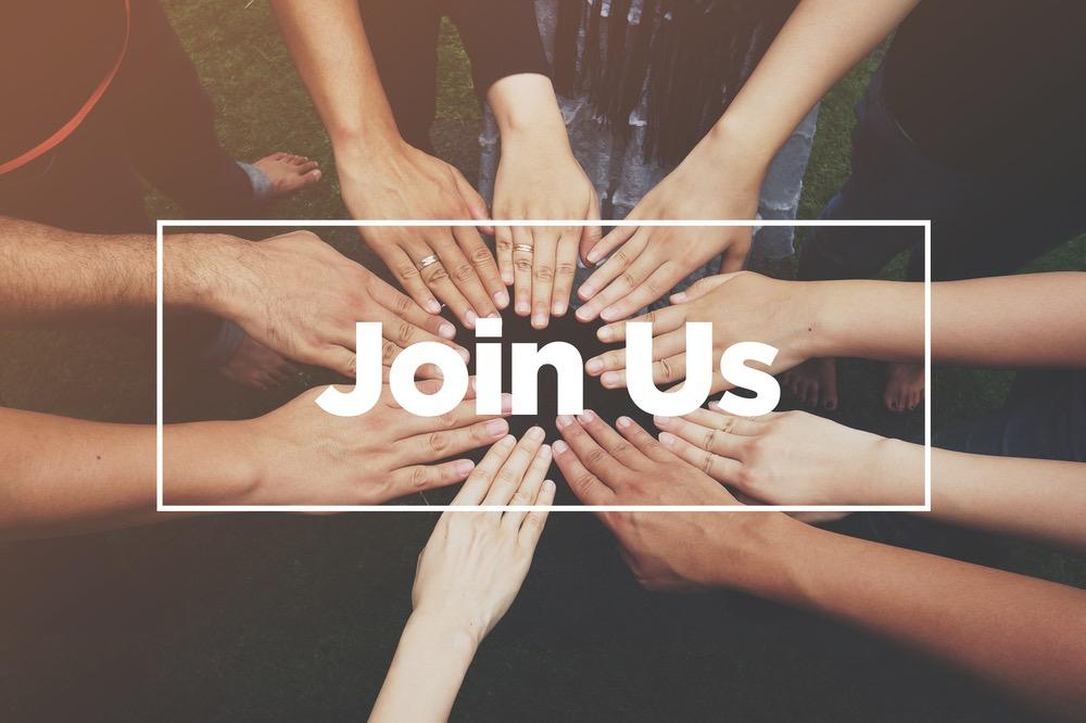 Mai unite con scritta Join Us
