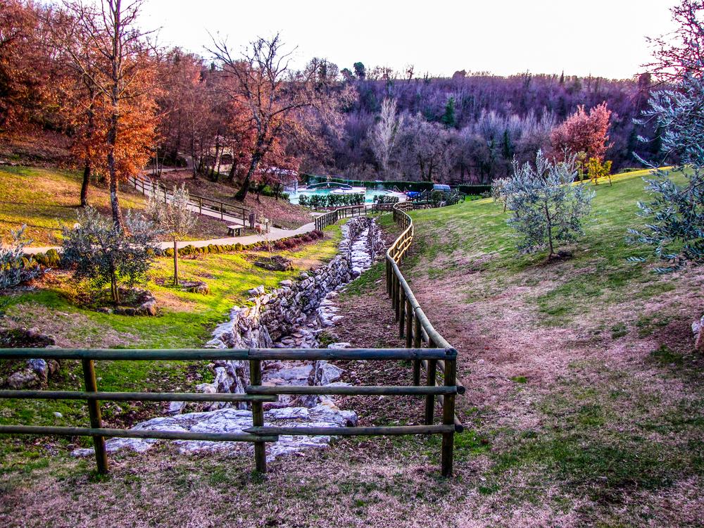 Lo stabilimento termale di Sorano in Toscana