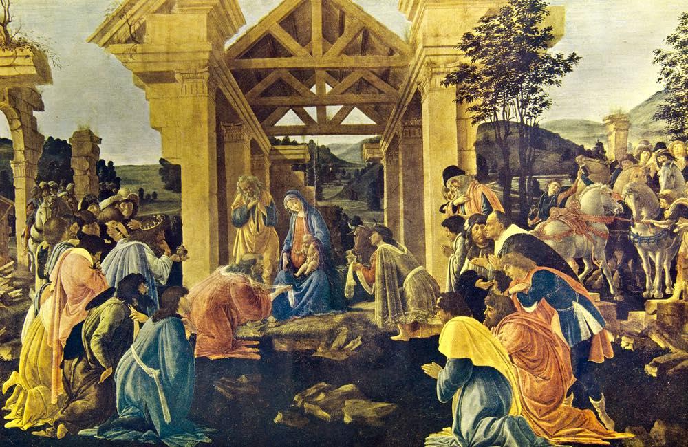 L'Adorazione dei Magi, opera rinascimentale di Sandro Botticelli