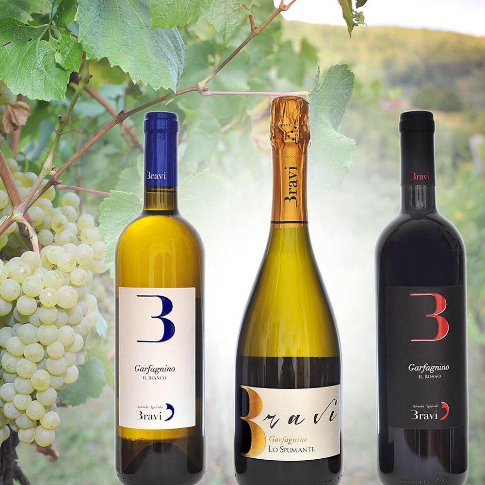 Bottiglie di vino della Grafagnana della Cantina Bravi