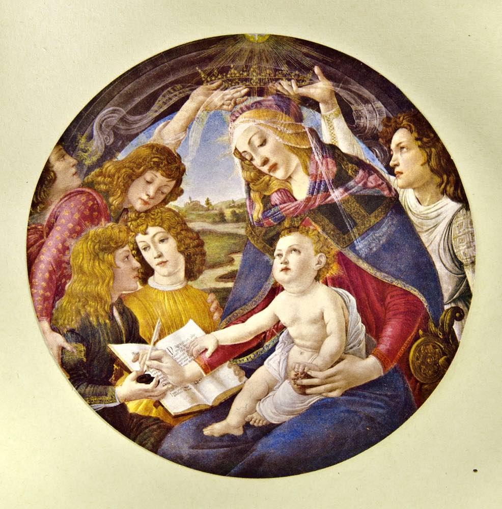 Riproduzione della Madonna del Magnificat, opera originale di Sandro Botticelli