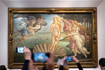 Nascita di Venere, opera di Sandro Botticelli conservata alla Galleria degli Uffizi di Firenze
