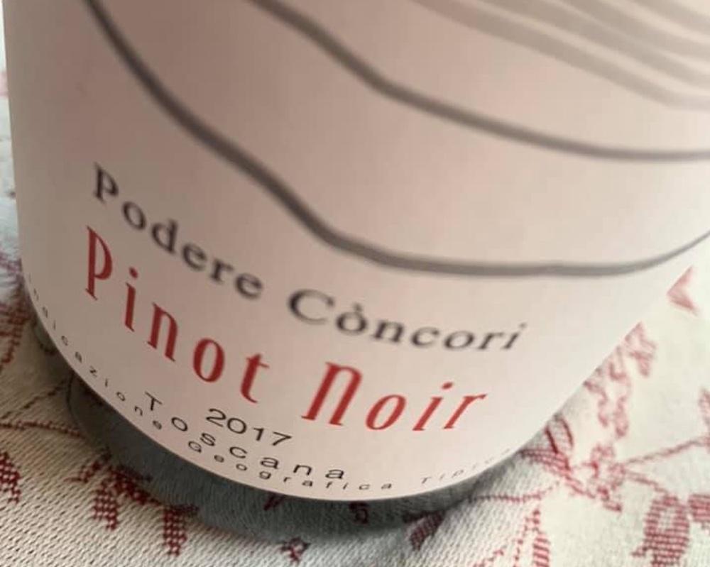 Bottiglia di Pinot Nero del Podere Còncori