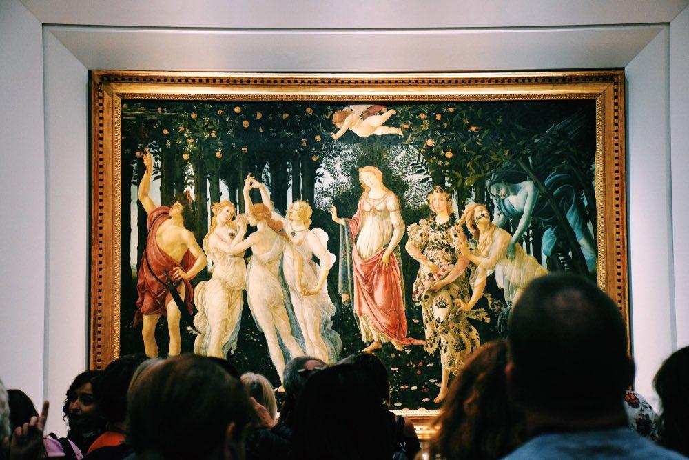 Primavera, opera di Sandro Botticelli conservata alla Galleria degli Uffizi di Firenze