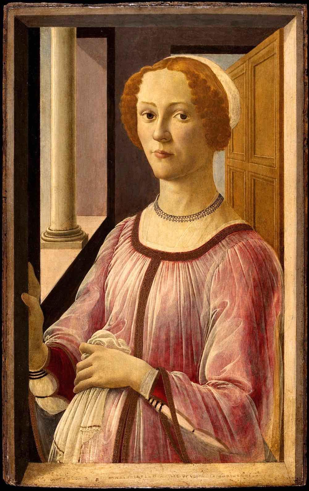 Ritratto di Esmeralda Brandini, opera di Sandro Botticelli