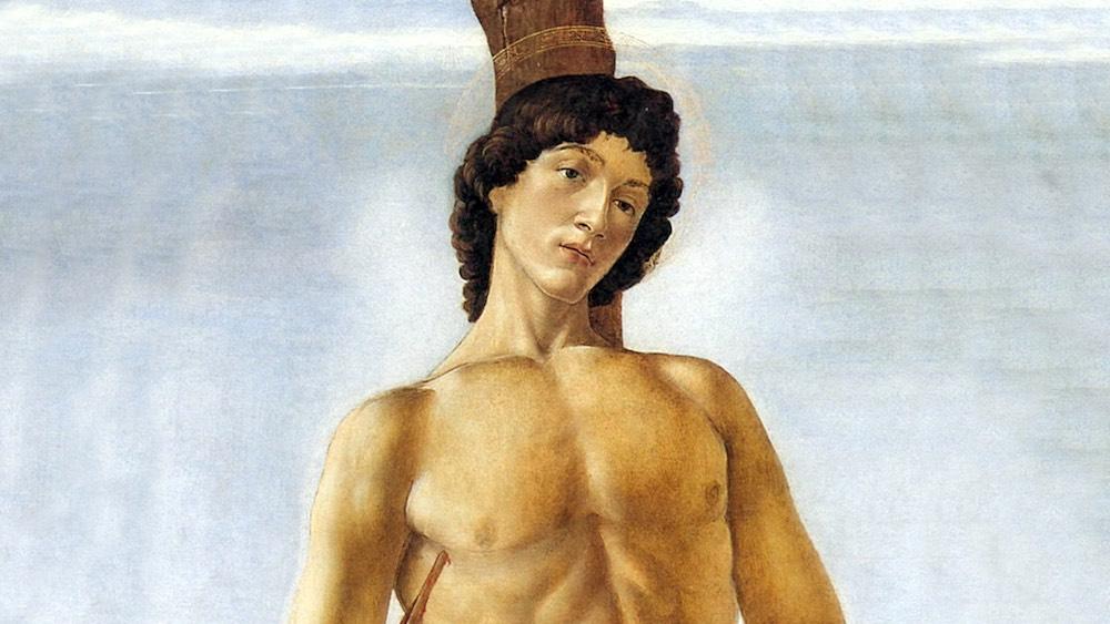 Dettaglio del San Sebastiano di Sandro Botticelli, maestro del Rinascimento