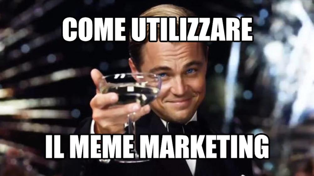 Meme di Leonardo di Caprio sulla creazione di meme marketing