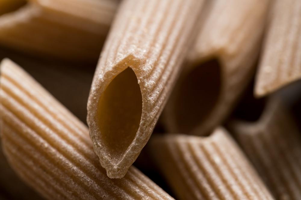 Penne di pasta Gragnano, considerata la pasta più buona del mondo