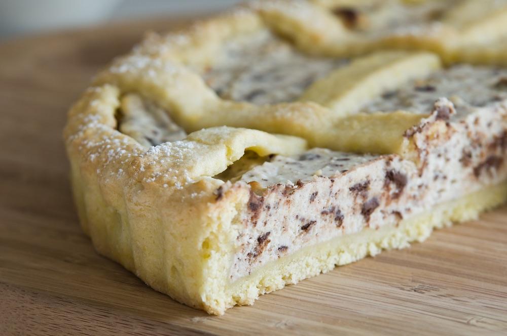 Torta di ricotta e cioccolato chiamata Torta Squisita in Garfagnana