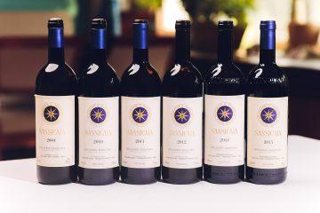 Verticale di bottiglie di Bolgheri Sassicaia DOC