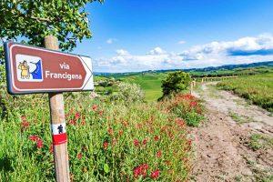 Indicazione per la Via Francigena in Toscana