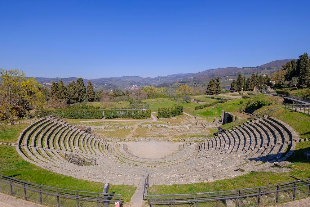 Anfiteatro romano di Fiesole in una giornata di sole