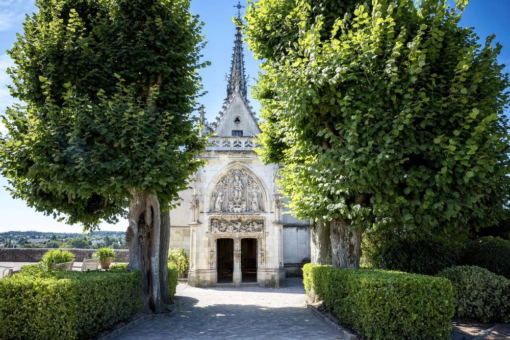 La Cappella di Saint-Hubert ad Amboise dove si trova la tomba di Leonardo da Vinci