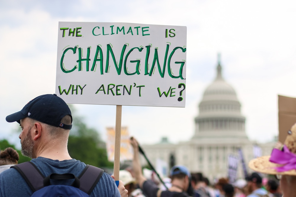 Cartello alla manifestazione sul climate change nell'aprile 2017 a Washington DC