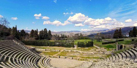 L'anfiteatro romano di Fiesole, vicino Firenze, in una giornata di sole