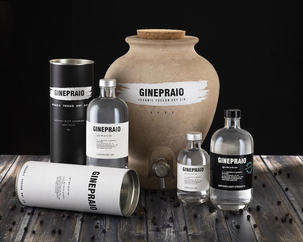 Linea di gin Ginepraio prodotto in Toscana a Pontedera