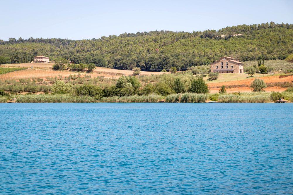 Il Lago dell'Accesa vicino a Massa Marittima