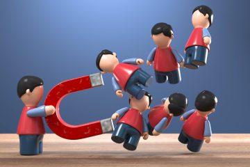 Il concetto di lead magnet espresso tramite una foto reale
