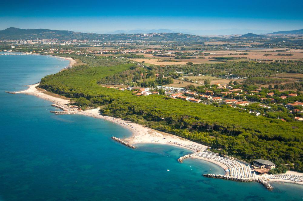 La Costa degli Etruschi tra Marina di Cecina e Bibbona