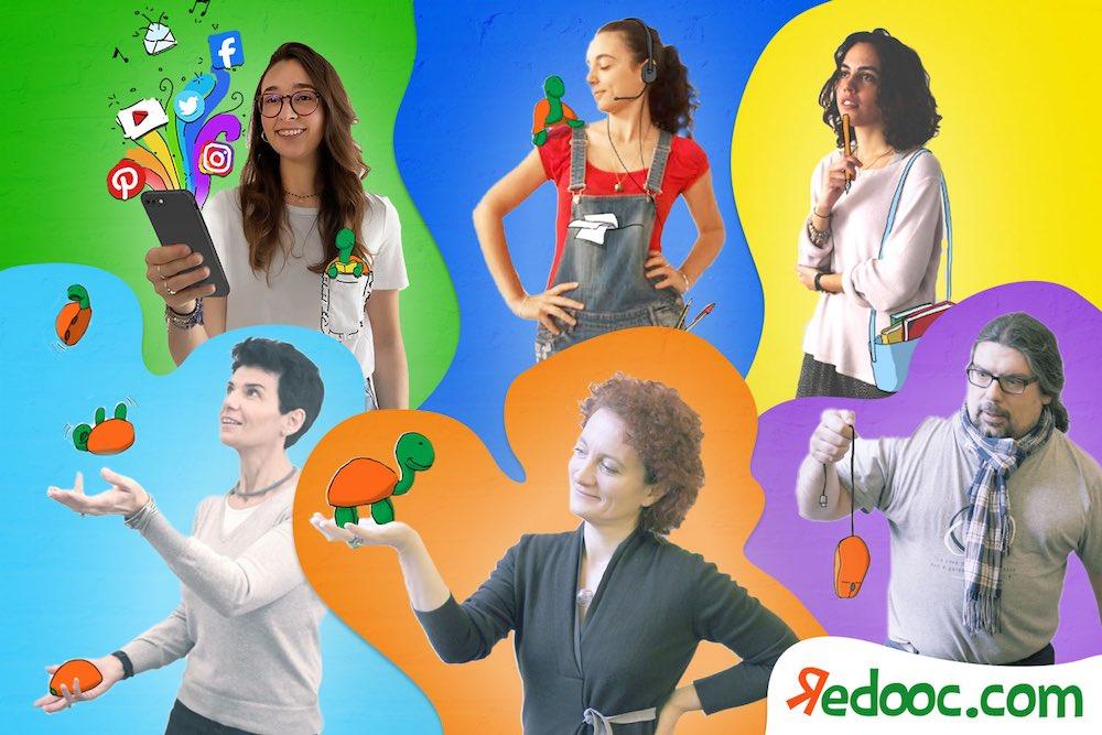 Il team di Redooc.com, piattaforma di e-learning fondata da Chiara Burberi