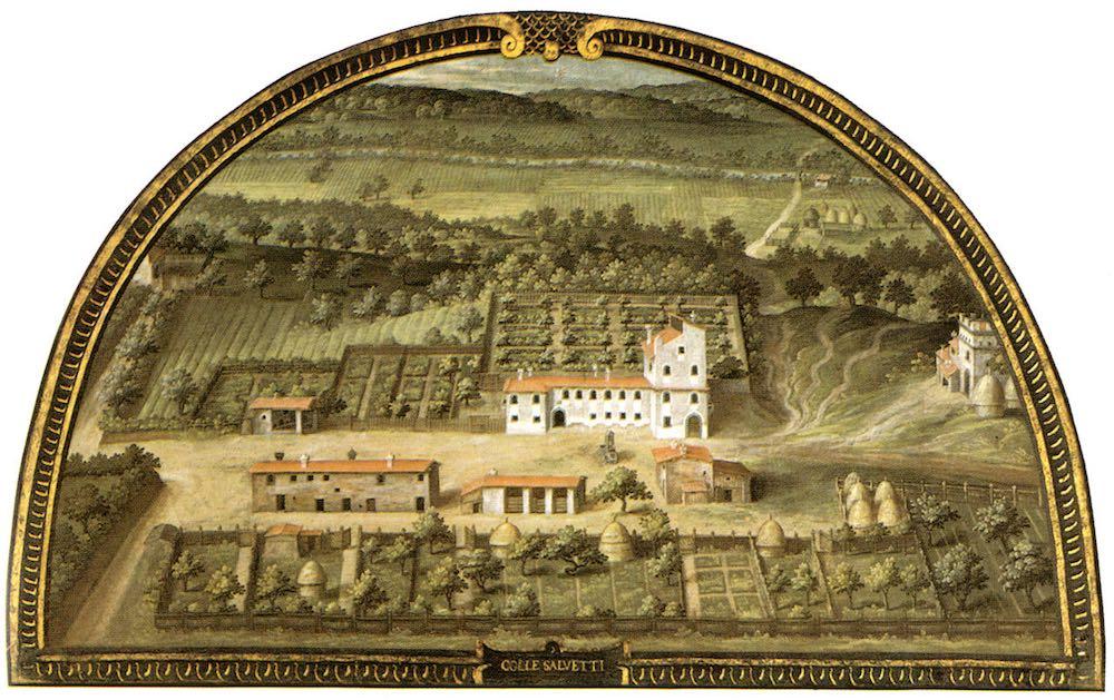 La Villa medicea di Collesalvetti nelle lunette dipinte Giusto Utens
