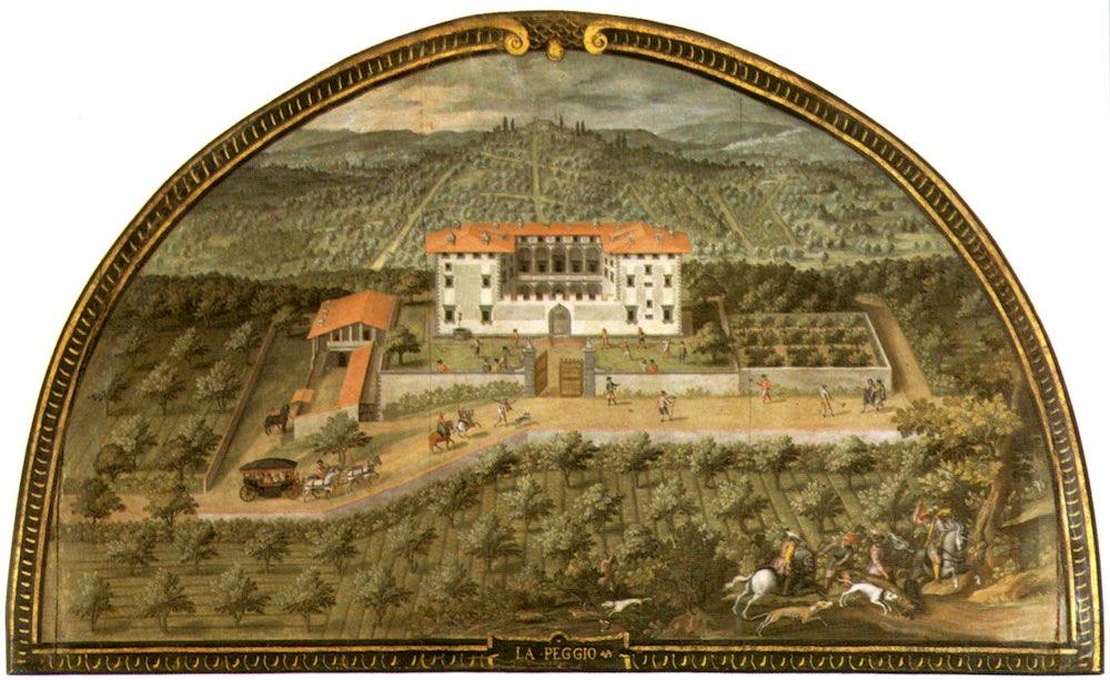 La Villa medicea di Lappeggi a Bagno a Ripoli nelle lunette dipinte Giusto Utens