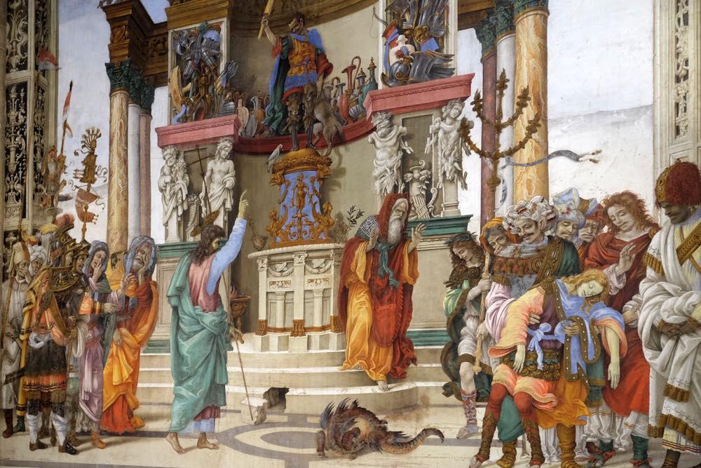 Affresco di Filippo Lippi nella Cappella Strozzi nella Chiesa di Santa Maria Novella a Firenze