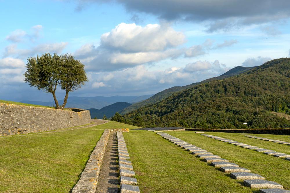 Cimitero tedesco sul Passo della Futa in Mugello