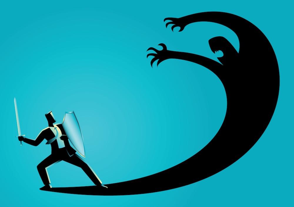 Combattere le proprie paure, immagine illustrata