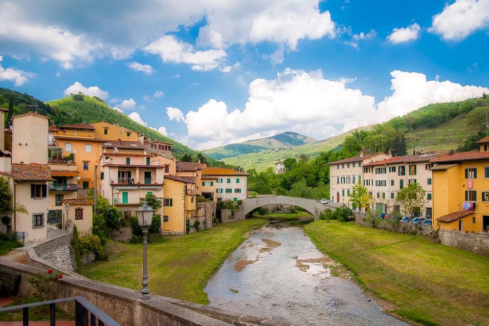 Il piccolo paese di Dicomano in Mugello, territorio toscano vicino Firenze