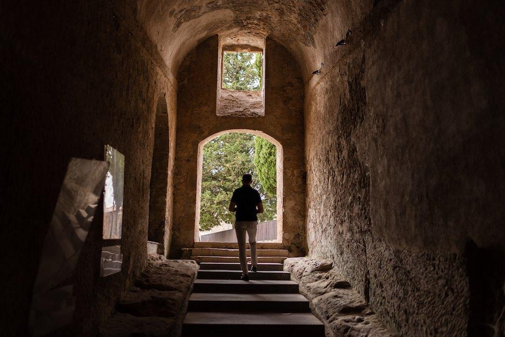 Interno dell'Hotel della Fortezza a Sorano