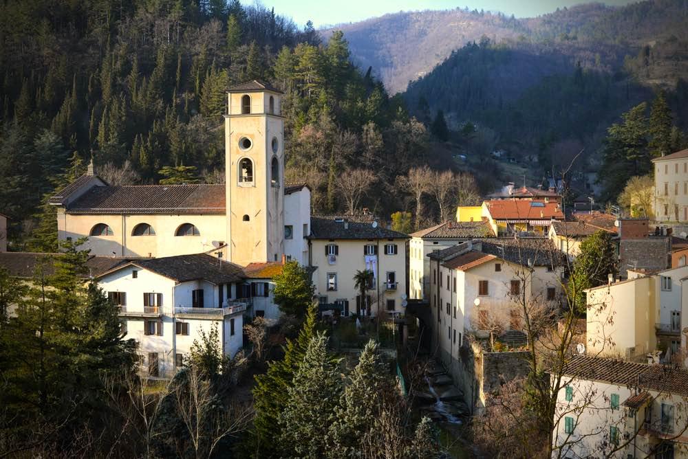 Il borgo medievale di Marradi in Mugello, Toscana