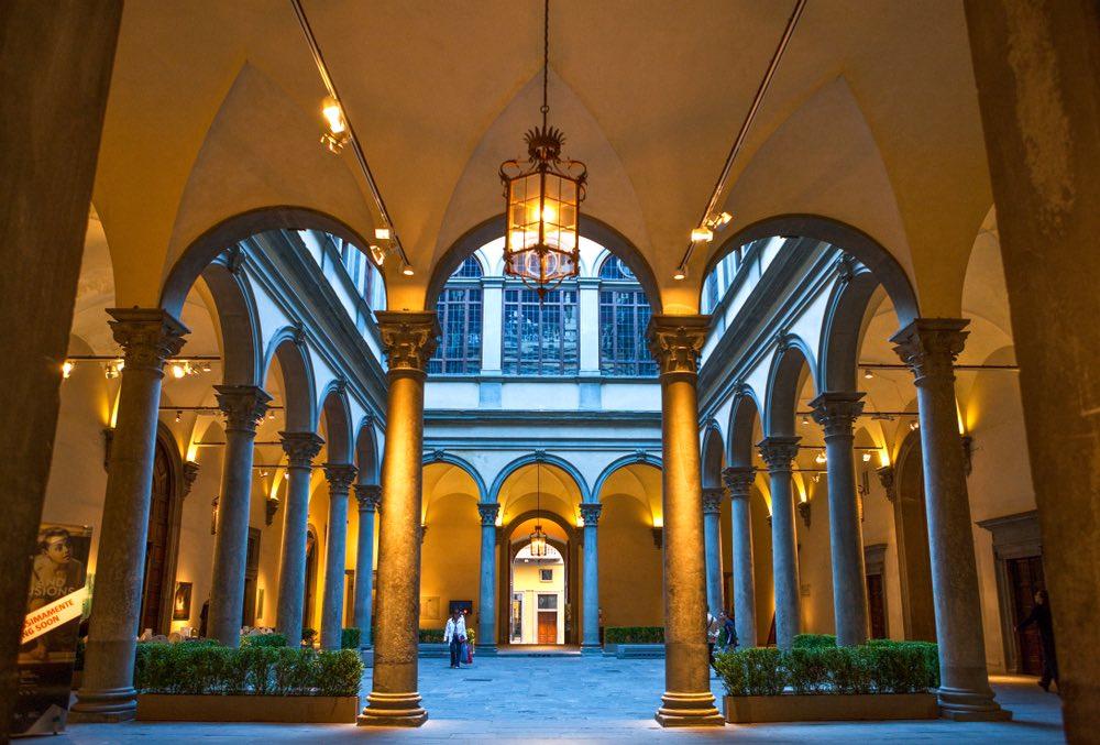 Interno di Palazzo Strozzi a Firenze
