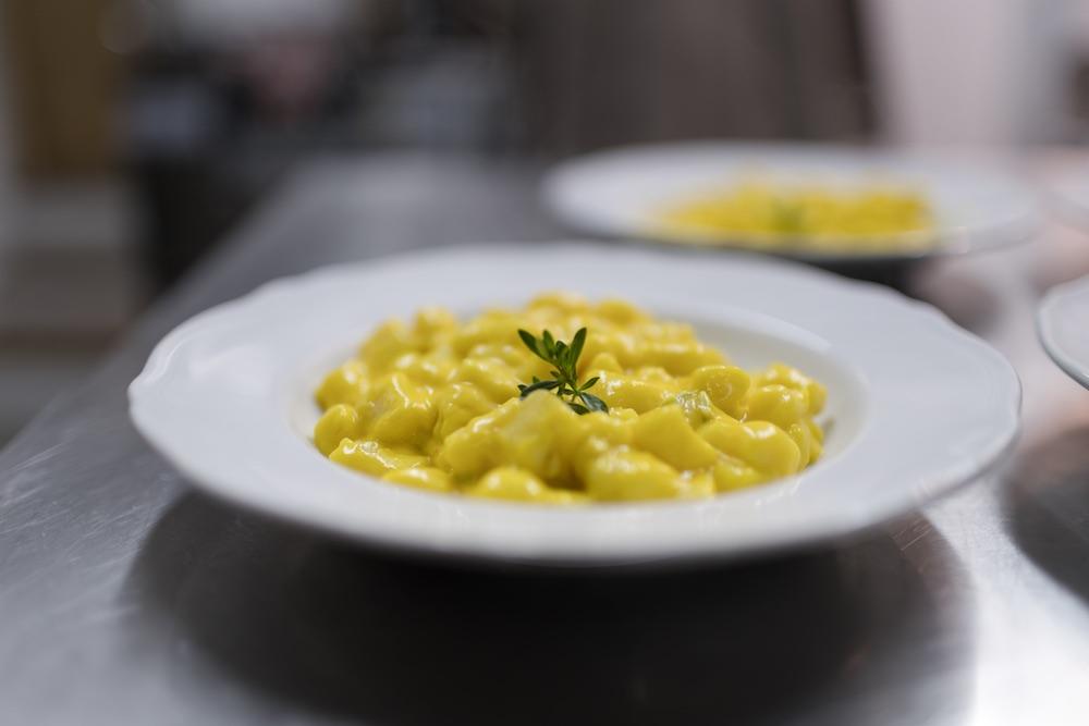Primo piatto del ristorante della Tenuta La Scure a Cortona