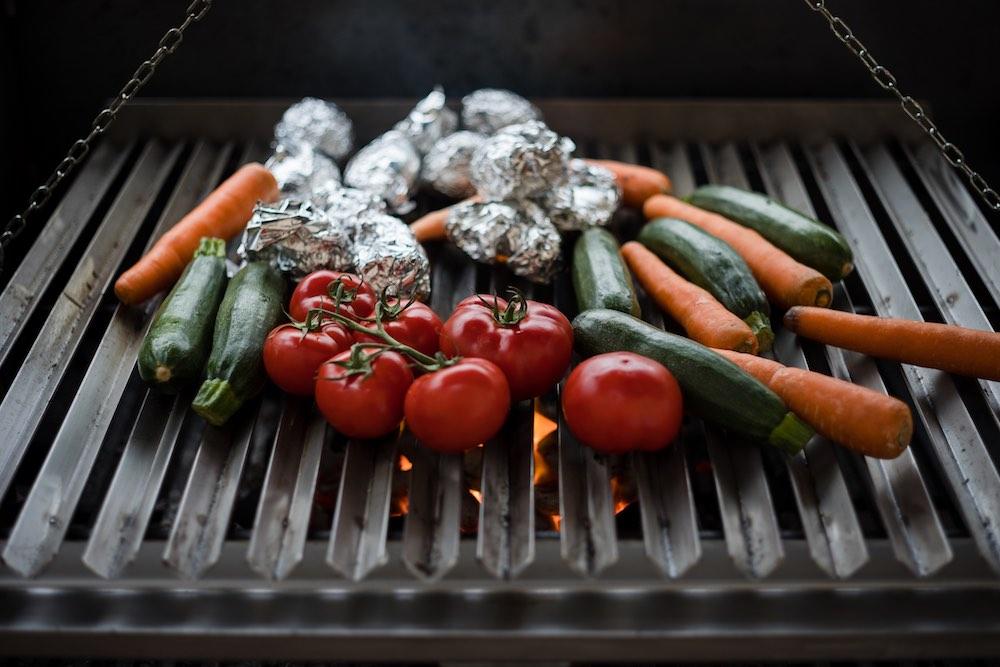 Verdure alla griglia all'Hotel della Fortezza a Sorano