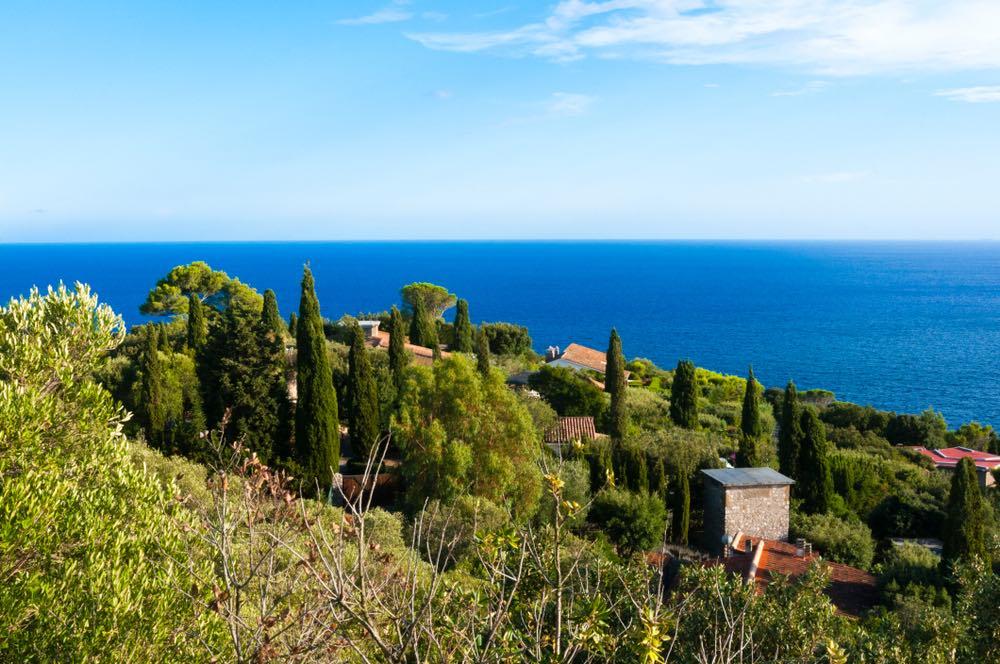 Case ad Ansedonia sotto la pineta con vista sul mare Tirreno