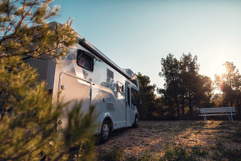 Camper in area di sosta in Toscana