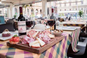 Tagliere di salumi toscani al ristorante La Bistecca Osteria Fiorentina