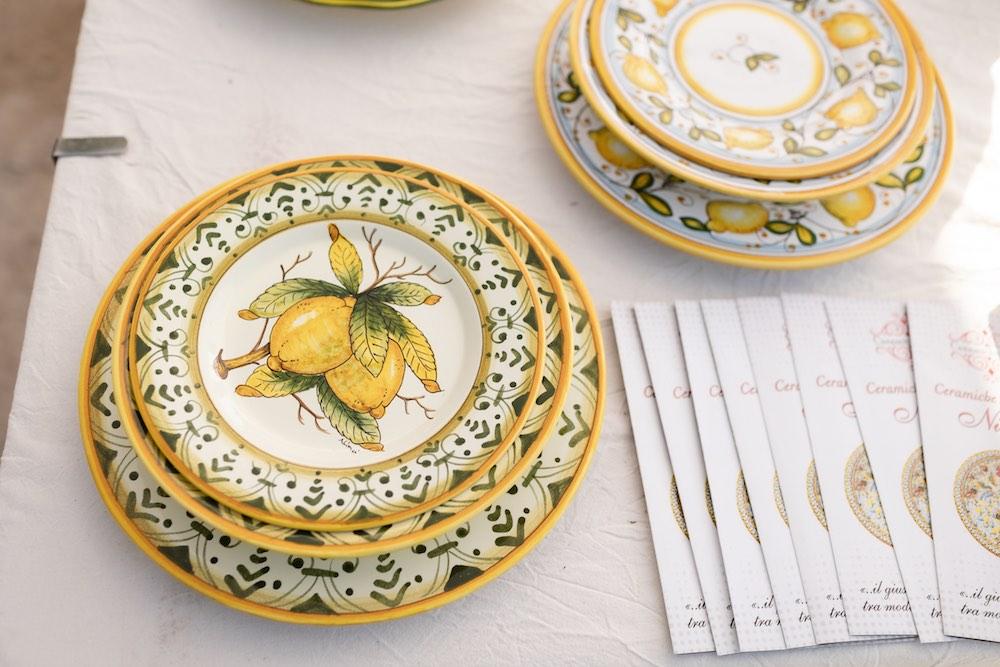 Piatto decorato delle Ceramiche Artistiche Ninci a EvergreenForte 2021