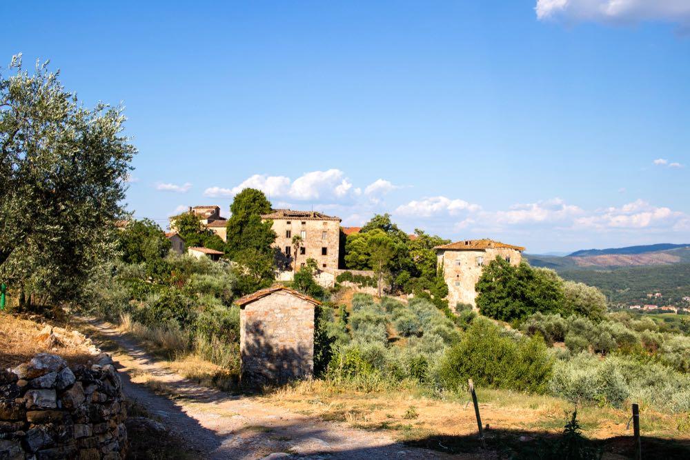 Il borgo di Duddoa, vicino a Bucine, in Valdambra, Toscana