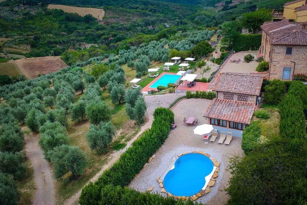 Esterno del boutique hotel Relais Villa Olmo all'Impruneta, vicino a Firenze