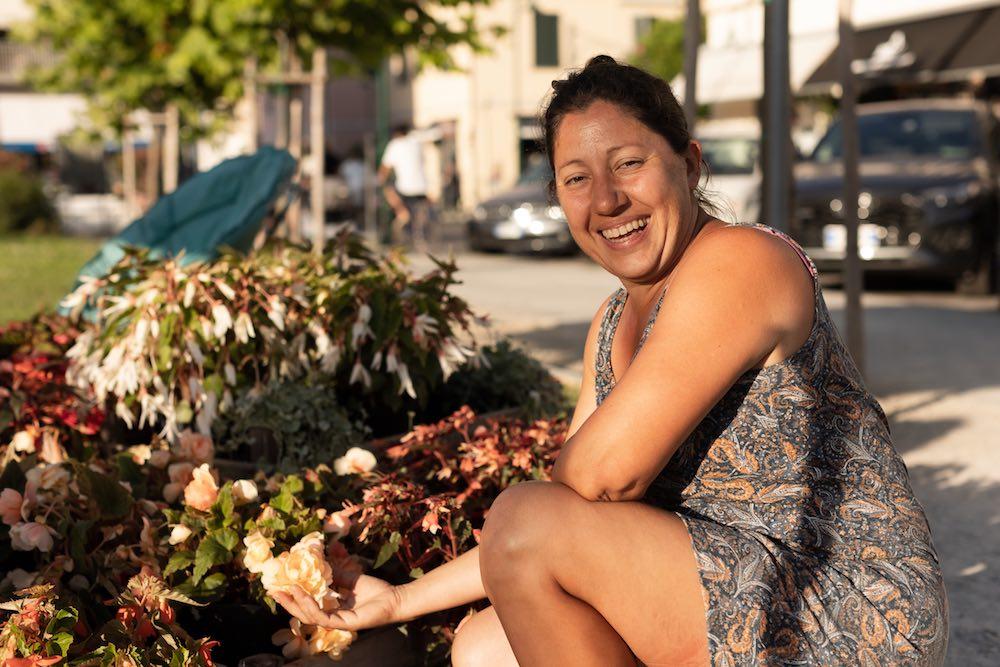 Lorena Franzi, proprietaria di I Fiori di Marinella, a EvergreenForte 2021
