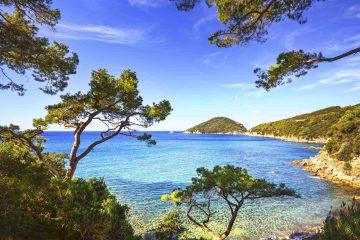 La spiaggia di Viticcio a Portoferraio, Isola d'Elba