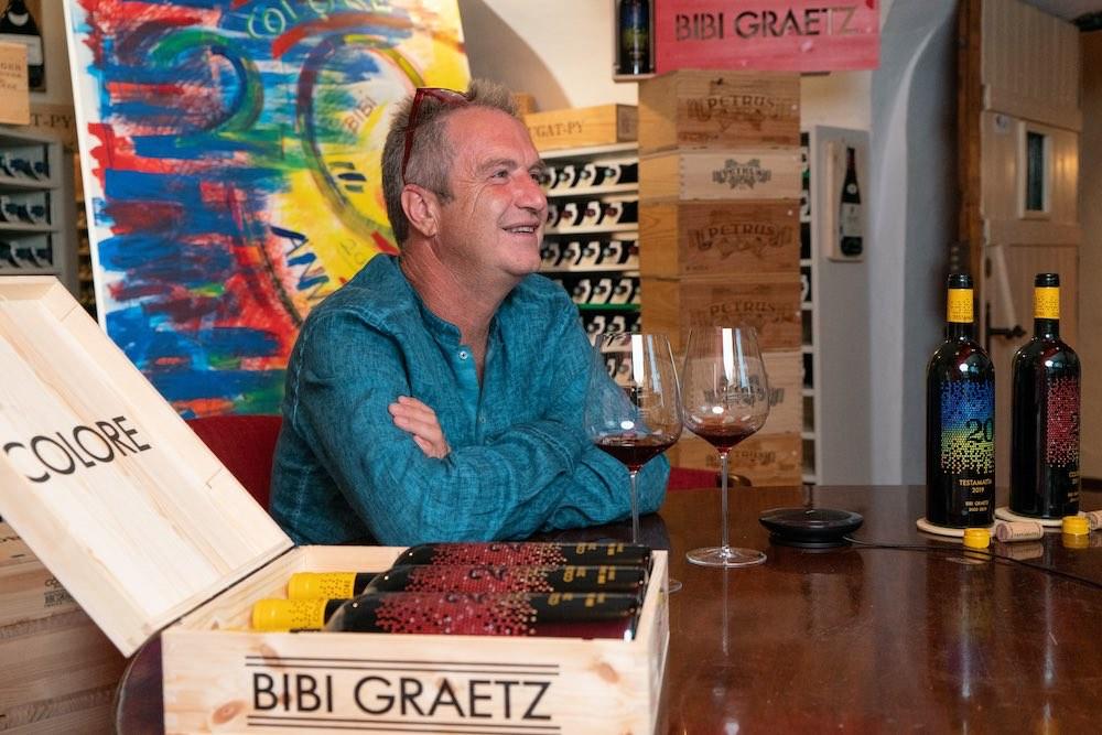 Bibi Graetz all'Enoteca Pinchiorri per l'anteprima di Colore e Tstamatta 2019