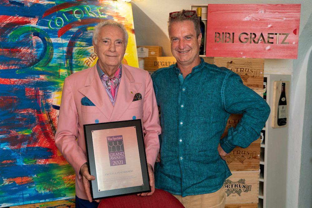 Bibi Graetz e Giorgio Pinchiorri per l'anniversario dei 20 anni di Colore e Testamatta