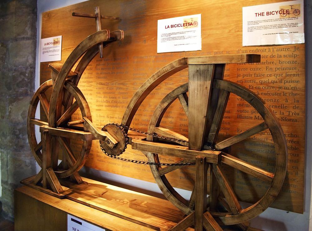 Riproduzione della bicicletta di Leonardo